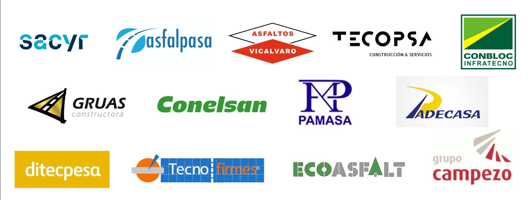 EMPRESAS CONSTRUCTORAS, FABRICANTES DE MEZCLAS ASFÁLTICAS Y PROVEEDORES DE BETUNES