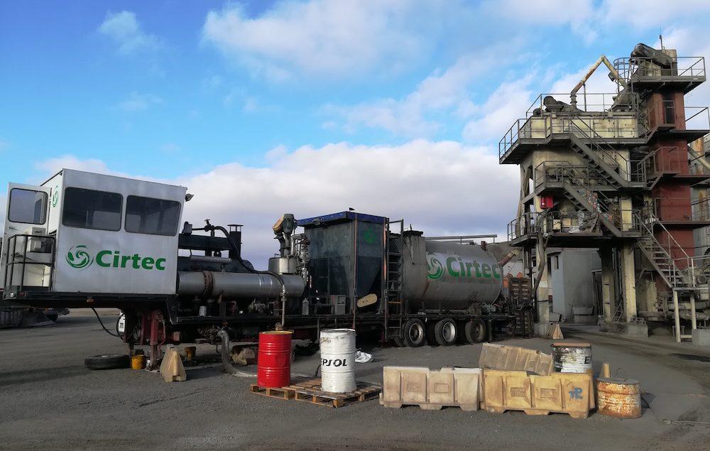 equipos de fabricación y modificación in situ de betunes caucho de Cirtec