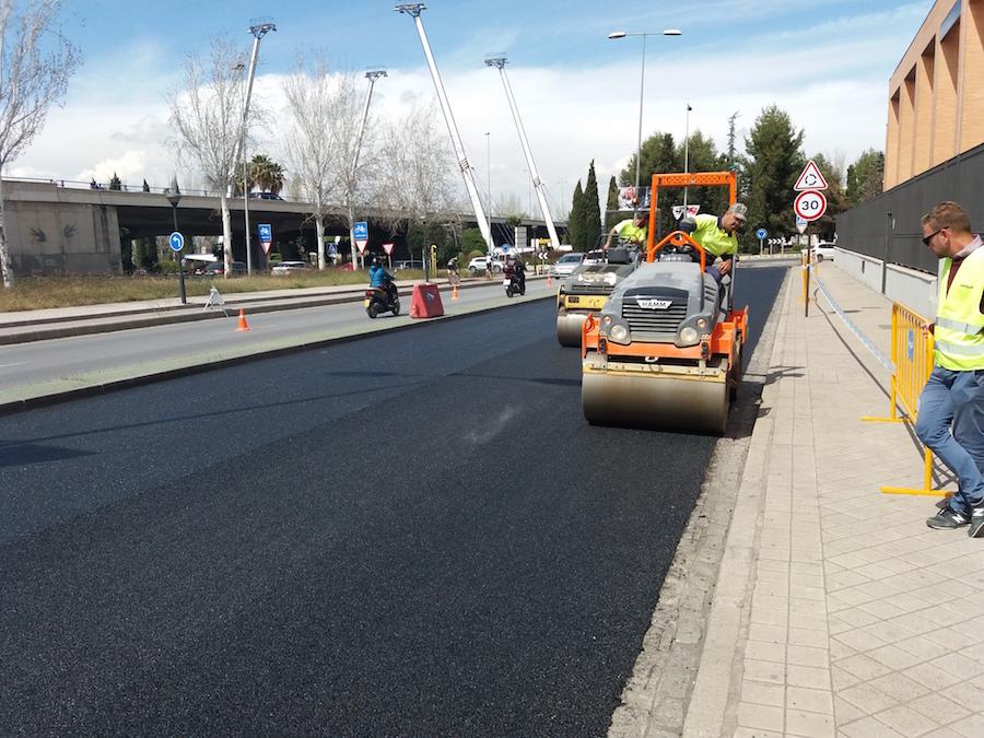 rarx asfalto con polvo de caucho en granada